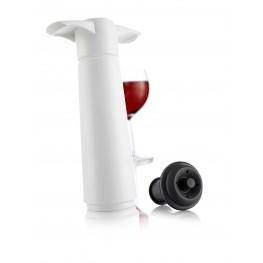 Viinipumppu ja korkki, valkoinen - VacuVin