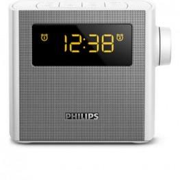 PHILIPS CLOCK RADIO,FM,USB,2W,WHITE