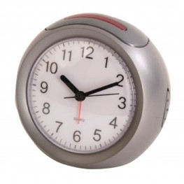 Radio-Controlled Alarm Clock Analogue Silver / White