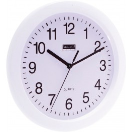 Wall Clock 25 cm Analogue Black / Silver