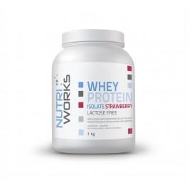Nutri Works heraproteiini-isolaatti jauheena, mansikka 1 kg