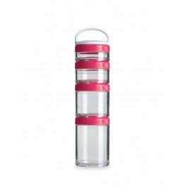 Blender Bottle GOSTAK starter 4PAK, säilytysrasiat, pinkki