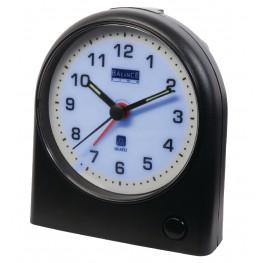 Quartz Alarm Clock Analogue Black / White