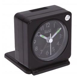 Travel Alarm Clock Analogue Black