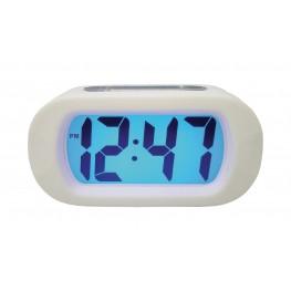 Quartz Alarm Clock Digital White